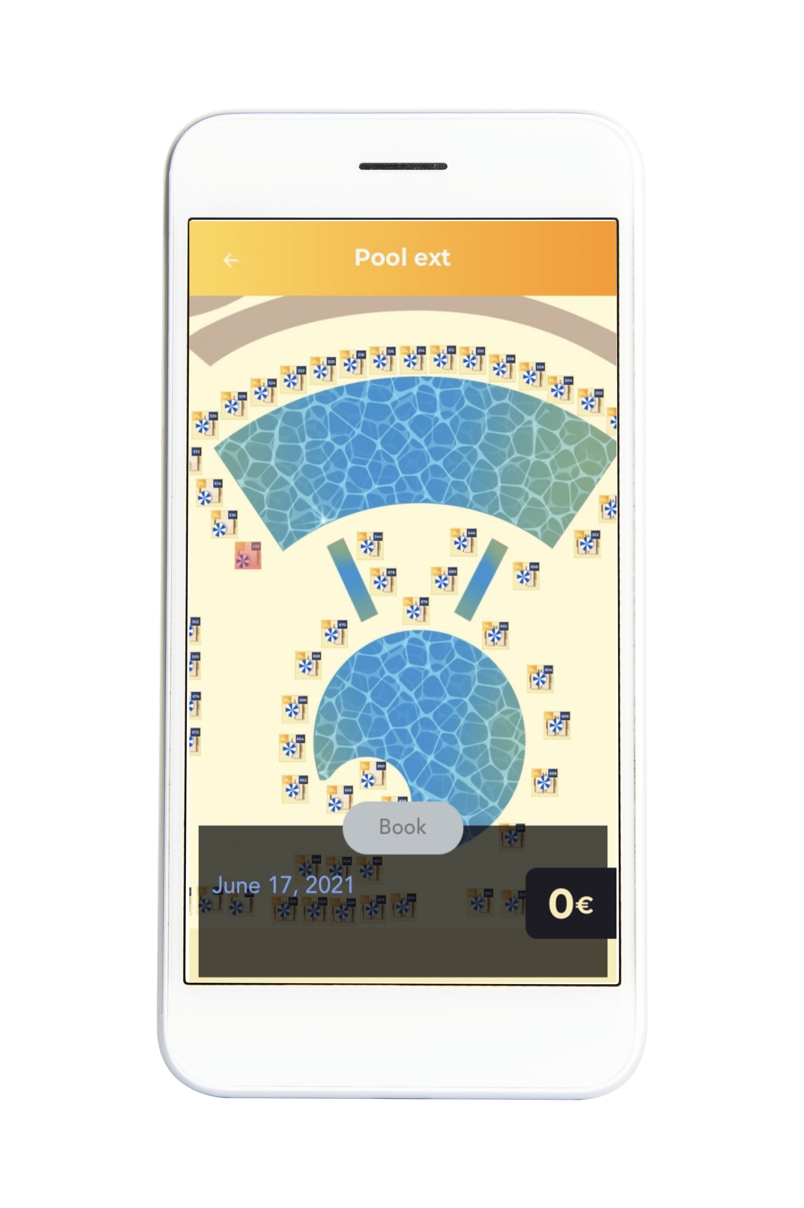 Hotel management app for hotel's private beach and pool